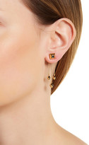 House Of Harlow Accented Pyramid Dangling Tassel Back Stud Earrings