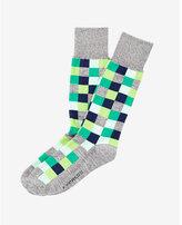 Express marl check print dress sock