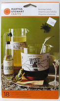 Martha Stewart Crafts - 18 Beverage Bottle Labels - Cyanide Wine - Spider Blend