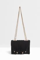 Marco De Vincenzo Velvet Chain Strap Bag