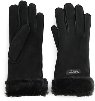 Koolaburra by UGG Women's Suede Gloves with Faux Fur Cuffs