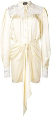 Magda Butrym Hebei draped shirt dress