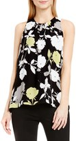 Vince Camuto Chapel Rose Print Sleeveless Blouse