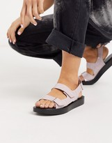 Who What Wear Axel flatform sandals in lilac croc