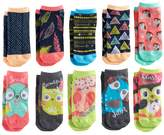 Pink Cookie Girls 4-16 10-pk. Characters & Patterns Low Cut Socks
