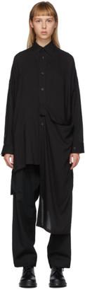 Yohji Yamamoto Black Left Row Shirt