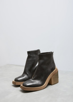 Marsèll Black Scatolo Square Toe Ankle Boot