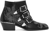 Chloé Black and Silver Susanna Boots