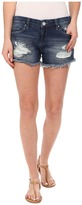 Blank NYC Denim Ripped Cut Off Shorts in String Dance
