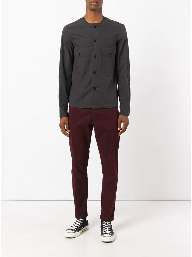 Lemaire collarless shirt