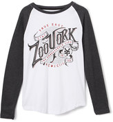 Zoo York White Impression Raglan Tee - Boys