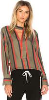 Equipment Janelle Stripe Blouse