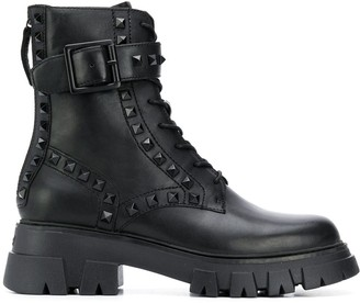 Ash Lewis Stud military boots