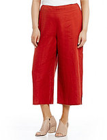 Eileen Fisher Plus Wide Cropped Pants