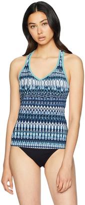ZeroXposur Womens Plus Size Teardrop XO Swimsuit Racer Back Tankini Top Swimwear No Bottom Aqua 20W