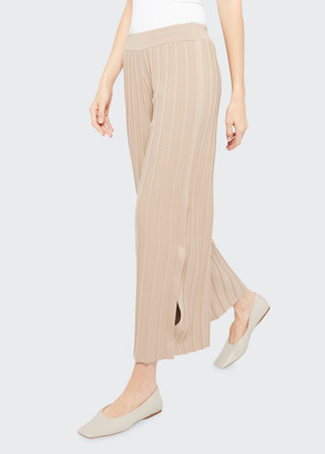 Theory Merino Wool Rib-Knit Wide-Leg Pants
