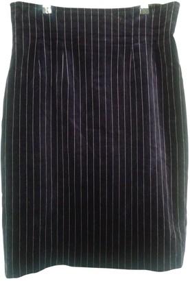 Sportmax Blue Velvet Skirt for Women