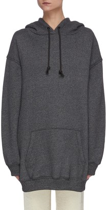 Acne Studios Oversized label patch cotton hoodie