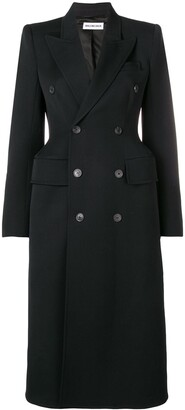 Balenciaga Hourglass Double-Breasted Coat
