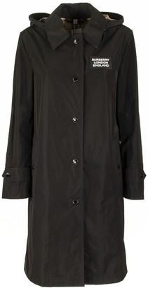 Burberry Detachable Hood Shape-memory Taffeta Car Coat