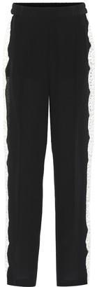 Stella McCartney Lace-trimmed silk pants