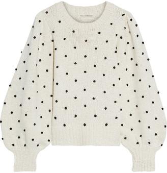 Ulla Johnson Adalene Embroidered Cotton Sweater