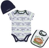 Gerber Seattle Seahawks Infant Bodysuit, Bib & Cap Set-3mths