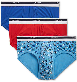 Nautica Men 3-Pk. Stretch Briefs