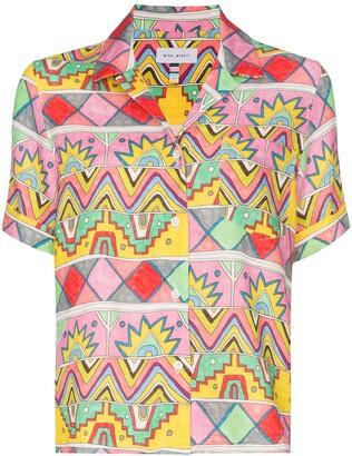 Mira Mikati Abstract Print Bowling Shirt