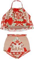 Adriana Degreas Tapestry Halter Bikini Set