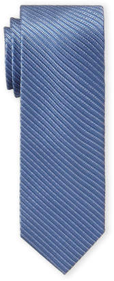 MICHAEL Michael Kors Blue Silk-Blend Stripe Slim Tie