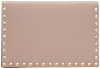 Valentino Pink Garavani Medium Rockstud Wallet