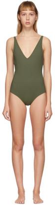 Totême Green Melissa One-Piece Swimsuit
