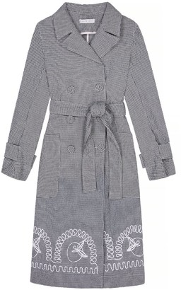Noche Embroidered Trench Coat