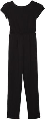 Velvet Torch Crisscross Strap Short Sleeve Jumpsuit