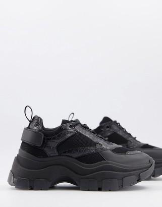 Raid Malibu chunky trainers in black