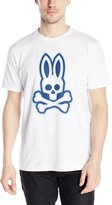Psycho Bunny Men's Double Outline Logo T-Shirt