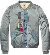 Scotch & Soda R'Belle Girl's Teddy Satin Bomber Jacket