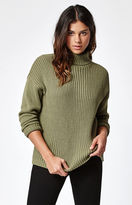 rhythm Snowflake Ribbed Turtleneck Sweater