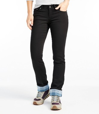 L.L. Bean Women's L.L.Bean Performance Stretch Jeans, Lined Colors