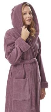 Arus Women's Organic Hooded Full Length Turkish Cotton Bathrobe Bedding