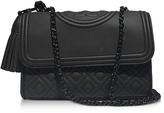 Tory Burch Fleming Black Matte Small Convertible Shoulder Bag