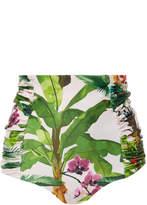 Johanna Ortiz Marimba Ruched High Waist Bikini Bottom