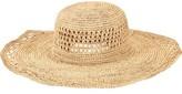 San Diego Hat Company Women's Raffia Round Crown Large Sun Brim Hat RHL3085