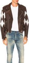 Enfants Riches Deprimes Harlequin Lambskin Moto Jacket