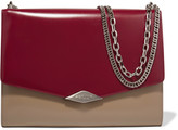 Rochas Palais Royal two-tone glossed-leather shoulder bag