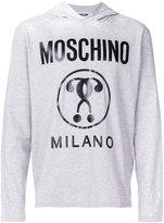 Moschino logo printed top - men - Cotton - 46