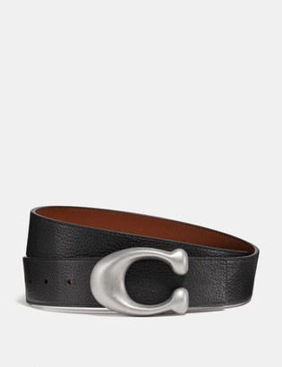 Coach Signature Buckle Reversible Belt, 38Mm