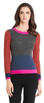 Diane von Furstenberg Fairlee Colorblock Wool Sweater