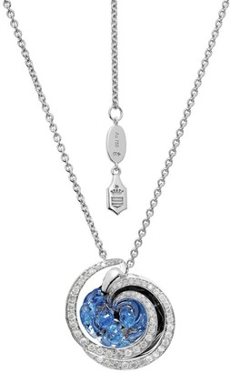 de Grisogono Chiocciolina 18K White Gold, Sapphire & Icy Diamond Necklace